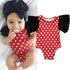 UK Cute Newborn Toddler Baby Girl Clothes Lace Floral Romper Bodysuit Outfits