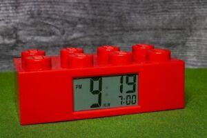 Lego Brick Alarm Clock Red (2010)
