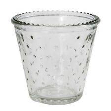 12 x Stück Teelichtgläser H 7cm Retro Teelichthalter Windlichter Windlichthalter
