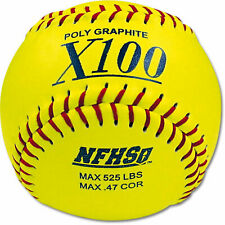 MacGregor 12 in. Nfhs Fast-Pitch Softballs 1 Dozen Poly Core Fun Play Sport New