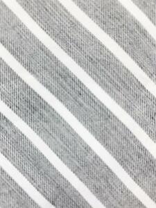 SPIER & MACKAY HAND MADE GRAY WHITE STRIPE COTTON NECKTIE TIE MOC2520A #T04