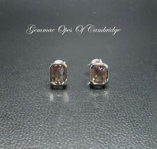 9K gold 9ct White Gold Ametrine Stud Earrings 1.83g