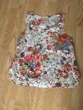 Women's Size 12 Flowery Vest Top By E-vie