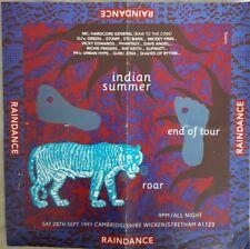 raindance indian summer 28.9.1991 cambridge Rave flyer