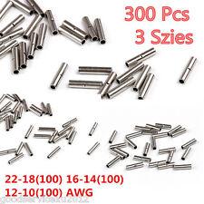 300 Pcs 3 Size 22-18 16-14 12-10 AWG Car Autos Wire Butt Connectors Terminal Kit