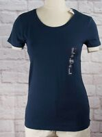 NWT Womens GAP Favorite Crew Neck T-Shirt Tapestry Navy Modal Blend - 100941