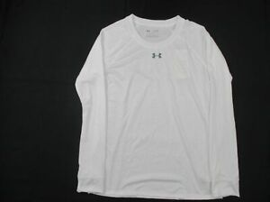 Under Armour HeatGear Long Sleeve Shirt Women's White New without Tags