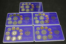 SERIE DIVISIONALI PROOF GERMANIA 1999 5 ZECCHE D - G - F - J - A - GERMANY COINS