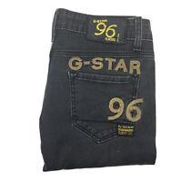 G-Star Raw Denim 3301 '96 Elwood' Women's Black Skinny Leg Ankle Graze Jeans W28