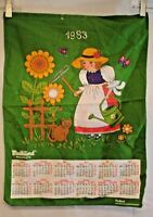 Vintage Calendar Towel Dish Kitchen Tea Towel 1983