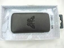 NEW LEATHER POUCH FOR I PHONE 5, ZADIG & VOLTAIRE, BUTTERFLY DECORATION, BOXED