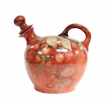 Hand Pinted Porcelain Austria Jug with Stopper Cherry Pattern Vienna Austria
