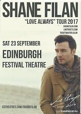 "Shane Filan  (of Westlife)   ""Love Always"" Tour 2017  Edinburgh  Promo Flyer x 3"