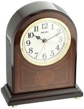 """Seiko Designer Analog Quartz 7"""" Wooden Case Beep Alarm Clock Qxe057Blh"""