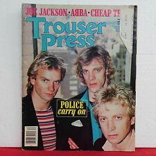 The Police Trouser Press Magazine Joe Jackson Abba Cheap Trick December 1979!!