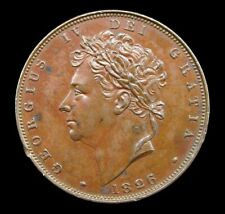 More details for george iv 1826 copper farthing - bronzed proof