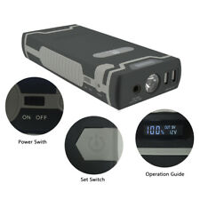 Portable Car Jump Starter USB Emergency Charger Booster Power Bank Battery Pack