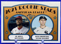JO ADELL & NICK MADRIGAL RC 2021 TOPPS HERITAGE 2021 ROOKIE STARS #187🔥🔥📈📈