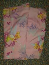 "Vtg Disney PINK Tinkerbell 2-Piece Window Panels Curtains 41"" x 63"" Fabric #1772"