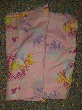 "Vtg Disney PINK Tinkerbell 2-Piece Window Panels Curtains 41"" x 63"" Fabric #1772"