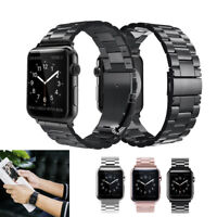 Stainless Steel Metal Strap Watch Band For Apple Watch 5 4 3 2 1 38 40 42 / 44MM