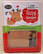 My Ruby Reindeer Sewing Kit Childrens Felt Craft Sewing Kit  Sew Me New in Tin