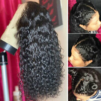 Silk Base Full Lace Wig Curly Raw Indian Human Hair 360 Lace Front Wigs Black hd