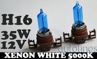 H16 12V 35W Xenon White 5000k Halogen Blue Car Head Light Lamp Globes / Bulbs