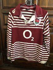 New listing Canterbury O2 England Rugby Polo  Long  Sleeve Sz Md