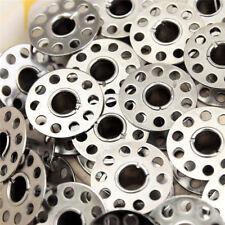 10 Bobines Canette en Metal Pour Fil de Machine à Coudre canettes
