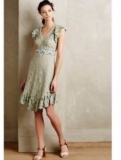 New Rare $354 Anthropologie Fluttering Lace Dress by Anna Sui Sz 4 Mint Elegant