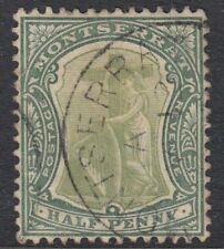 Used Single British Montserratian Stamps