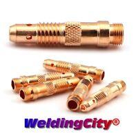 "WeldingCity 5-pk TIG Welding Torch STUBBY Collet Body 4CB332 3//32/"" for 17//18//26"