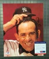 Yogi Berra Psa Dna Coa Autograph 9x12 Photo New York Signed Authentic Yankees