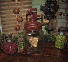 Primitive Antique Vtg Style Dazey Butter Churn Glass Jar Feb 14 '22 Reproduction