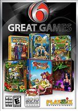 6 Great Games PC Games Windows 10 8 7 XP Computer gem match puzzle hidden NEW