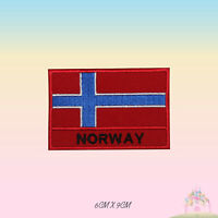 Norway National Flag Embroidered Iron On Patch Sew On Badge Applique