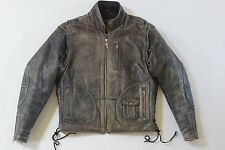 Harley Davidson Men Vintage 90's PANHEAD Convertible Brown Leather Jacket Vest M