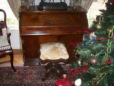 Antique Virginian Adjustable Piano or Organ Stool Eastlake Victorian