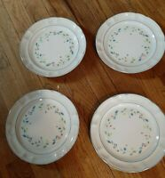 "3-PC ""FLORAL EXPRESSIONS"" 10 3/4"" DINNER PLATES FLOWERS ON WHITE BACKGROUND"