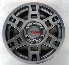"Toyota 4Runner 1984 - 2018 TRD Pro SEMA 17"" MATTE GRAY Alloy Rims Set - OEM NEW!"