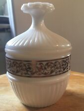 Vintage Avon Collectible 1960's Milk Glass Can 00004000 dle Holder-Elusive Candle Included