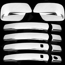For Nissan Rogue 08-13 Chrome Cover Set 4 Door Handle Covers Smart Key & Mirror