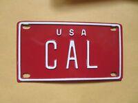 Personalized U S A CAL (California) Mini Bike Vanity Name License Plate