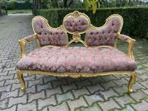 Beautifull French Sofa from 1940 with silk and cotton - worldwide shipping