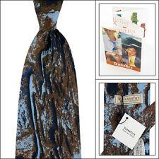 Mens TERRA Blue/Brown Atlas Mountains Morocco Silk Neck Tie NWT $95 Made in USA