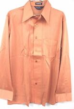 VTG 70s Career Club Shirt L Mens Disco Slinky VLV Celanese Bianca Melon Status