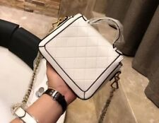 Fashion premium leather top handle twisted torchon buckle crossbody shoulder bag