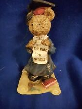 "Polystone Graduation Bear ,""The Road to Success "" Cute Bear Statue"
