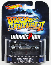 TIME MACHINE Hover Mode Back to the Future - 2015 Hot Wheels Retro Entertainment